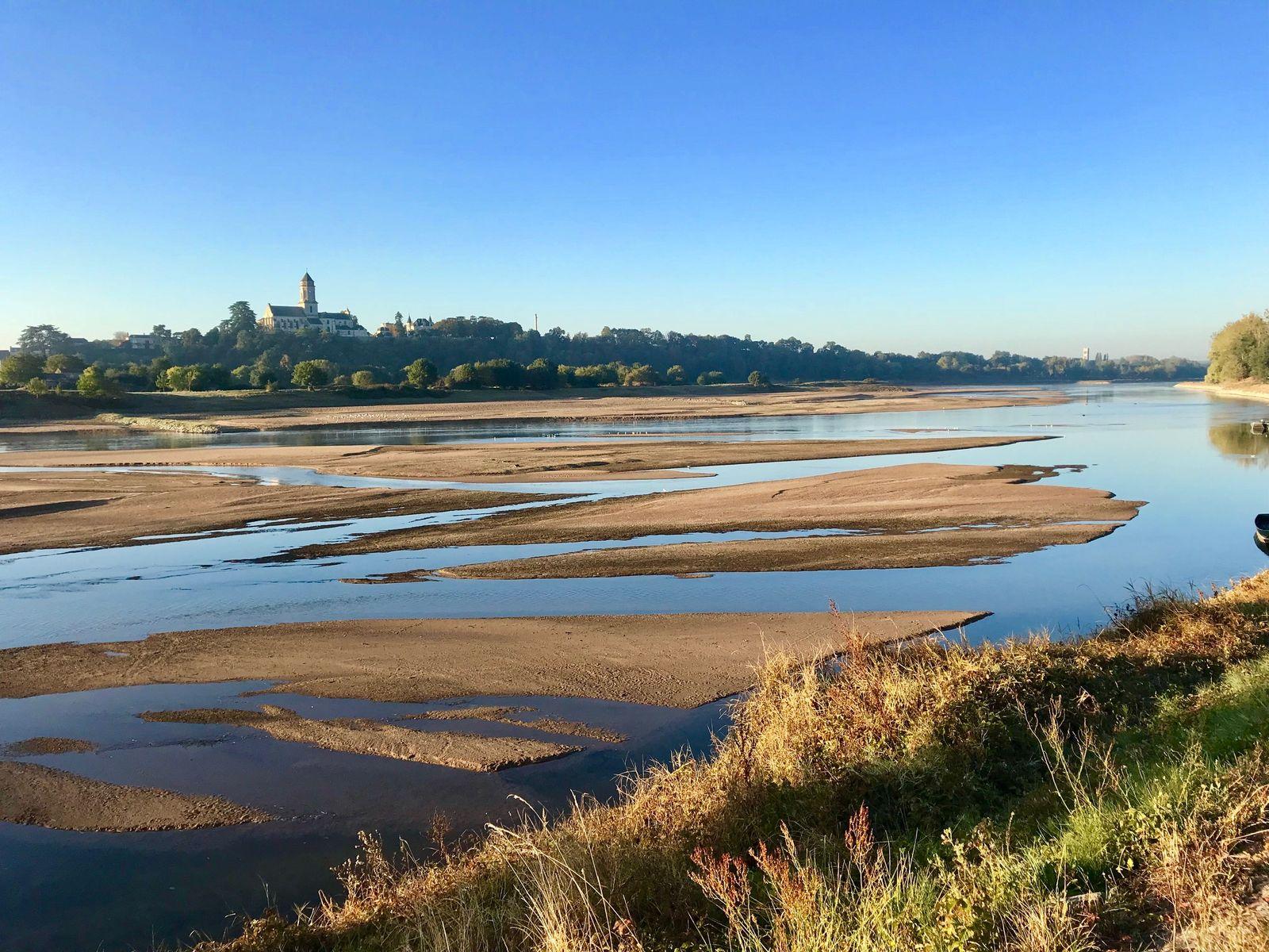 Paysage de Loire dans le village de la Meilleraie.