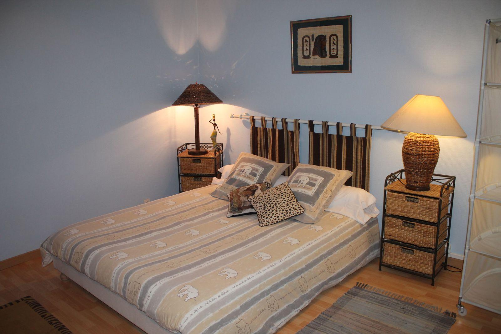 Chambre Savane (Grande) 1 lit de 160 1 lit de 140 et 1 lit 90