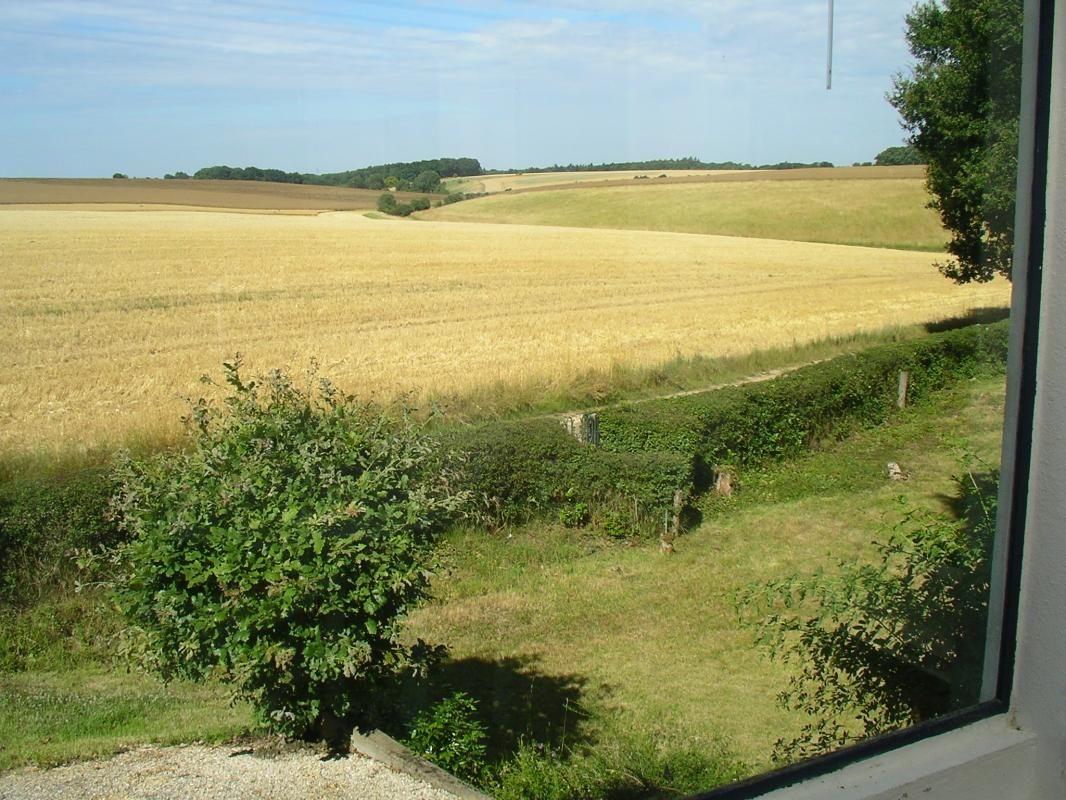 La campagne vue de la terrasse