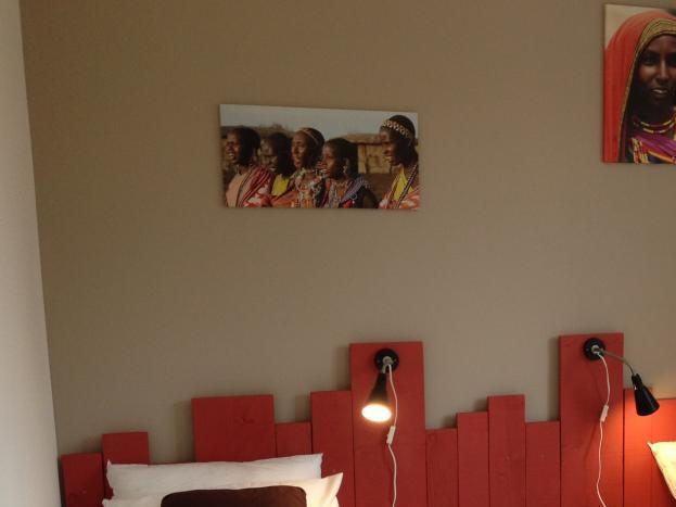 La chambre rouge en version 2 lits simples (90/200)