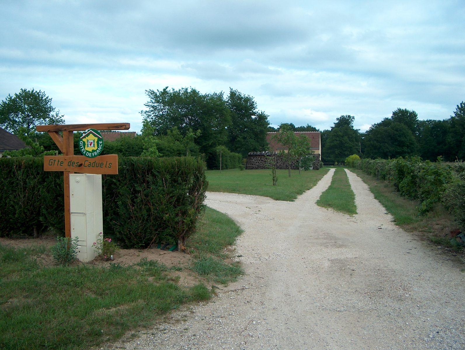 Chemin menant au Gîte depuis la route des Caduels