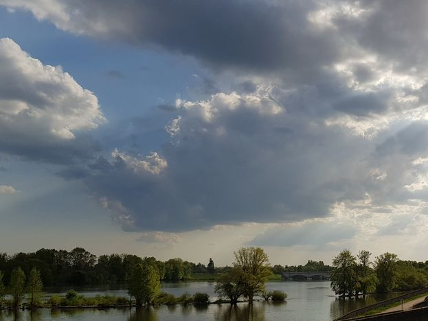 En bordure du canal d'Orléans et Loire