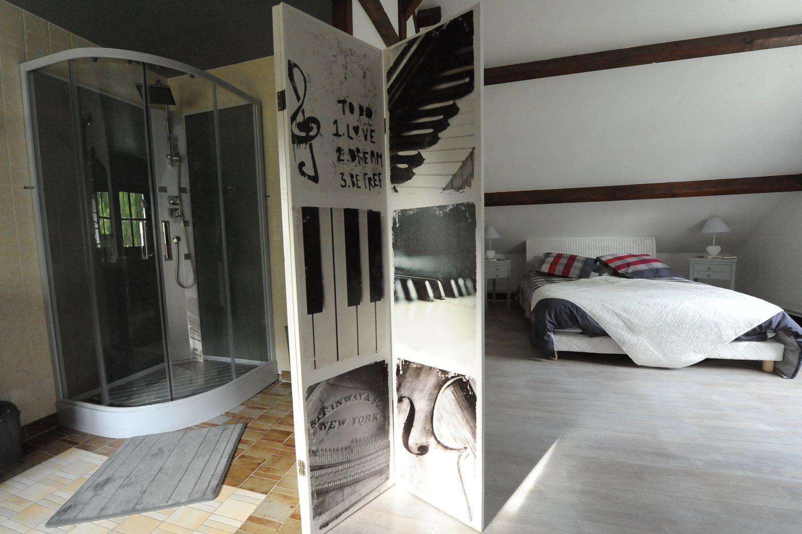 salle de bain chambre à l'étage