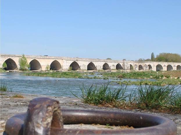 Beaugency, son pont, la Loire