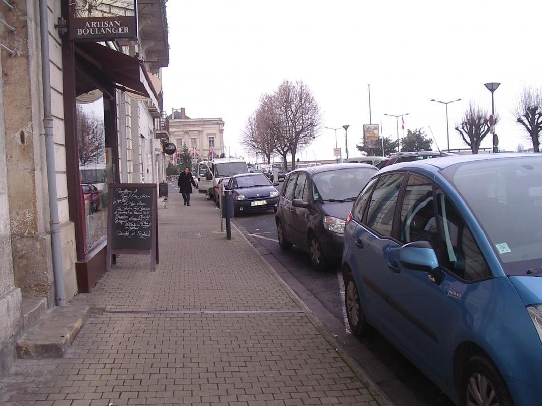 Vue parking devant le gite