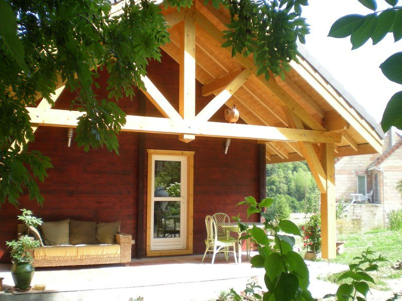 Terrasse 1 51G362 - La Maison en Bois - Moslins - Gîtes de France Marne
