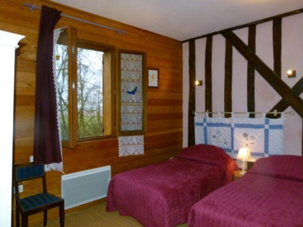 Chambre Le Renard Roux (2 lits jumeaux) - Gite les Clés d'Emeraude