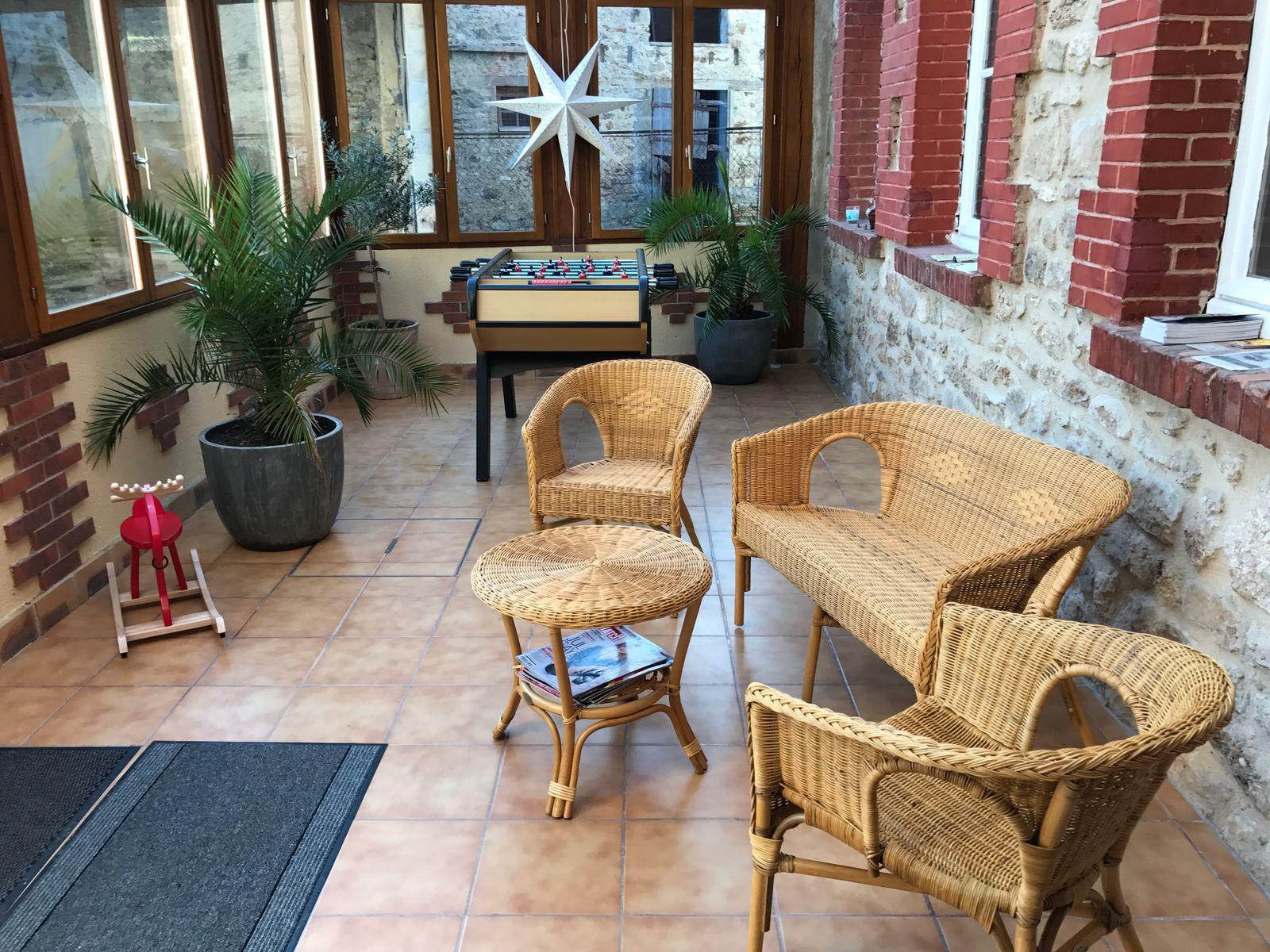 Entrée véranda 51G472 - La maison du vigneron - Vincelles - Gîtes de France Marne