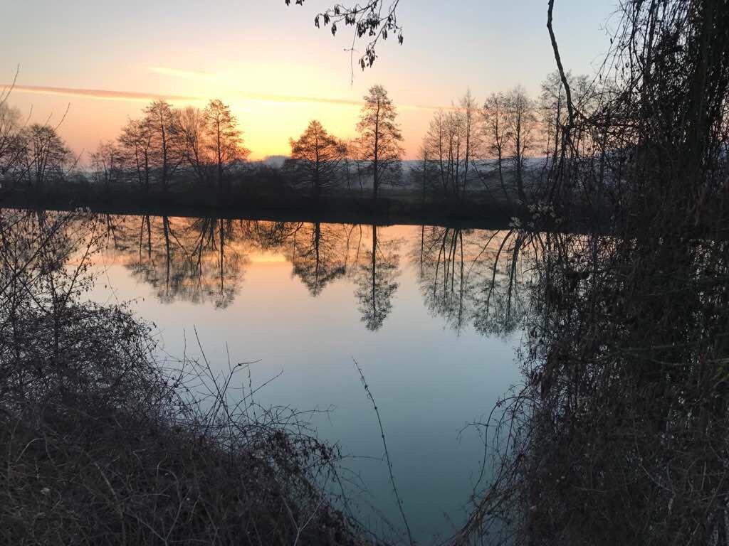 Lever de soleil bord de Marne 51G472 - La maison du vigneron - Vincelles - Gîtes de France Marne
