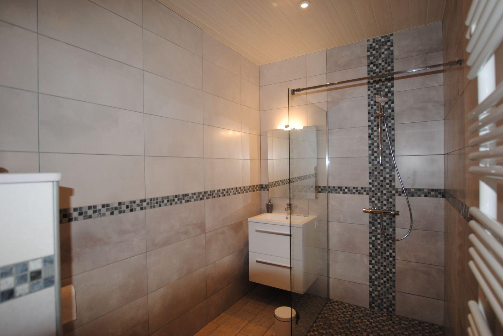 51G496 - Igny Comblizy - L'Epi Doré - Salle d'eau privative à la chambre beige (Rez-de-chaussée)