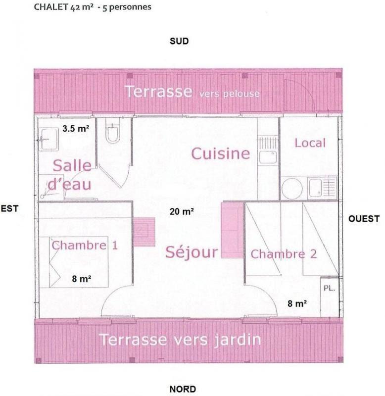 Plan du gîte Les Mélisses