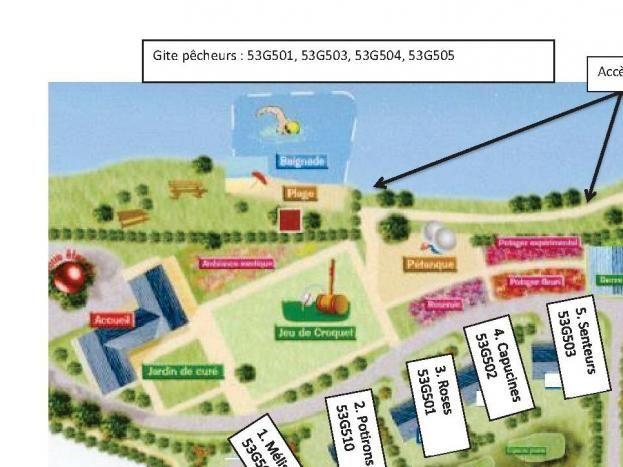 plan du Village Nature et Jardin de Bouère