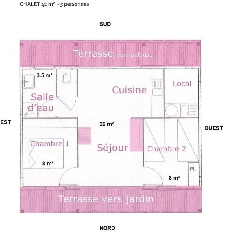 Plan du chalet Les Capucines