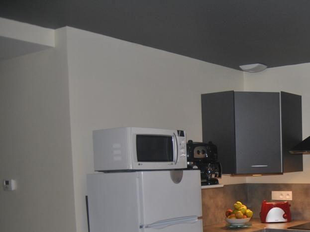 cuisine aménagée plaque induction four micro-ondes réfrigérateur congélateur....