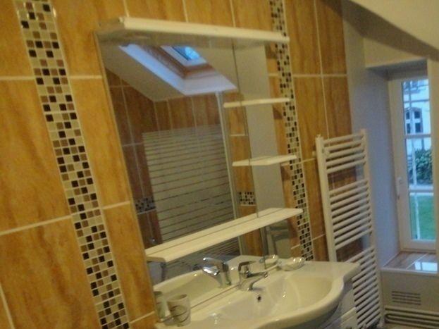 Belle salle de bain dans ce gîte confortable