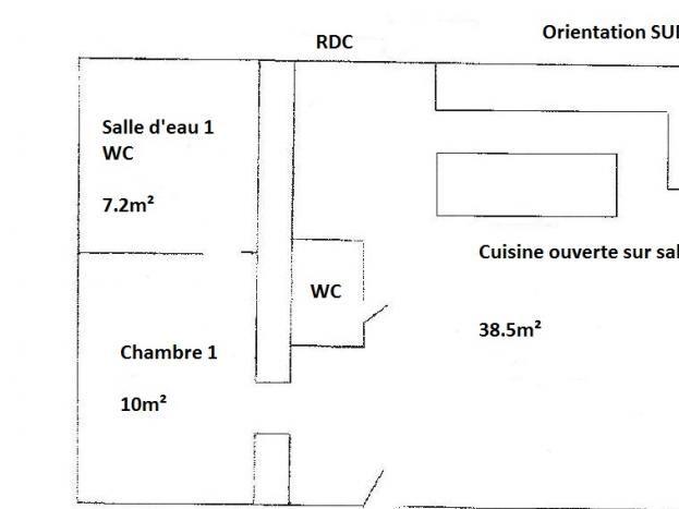 Plan du gîte labellisé Gîtes de France en Mayenne