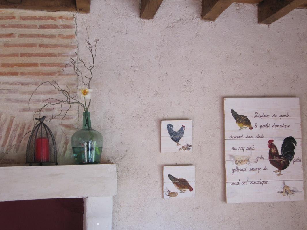 Des poules, au jardin et en peinture...