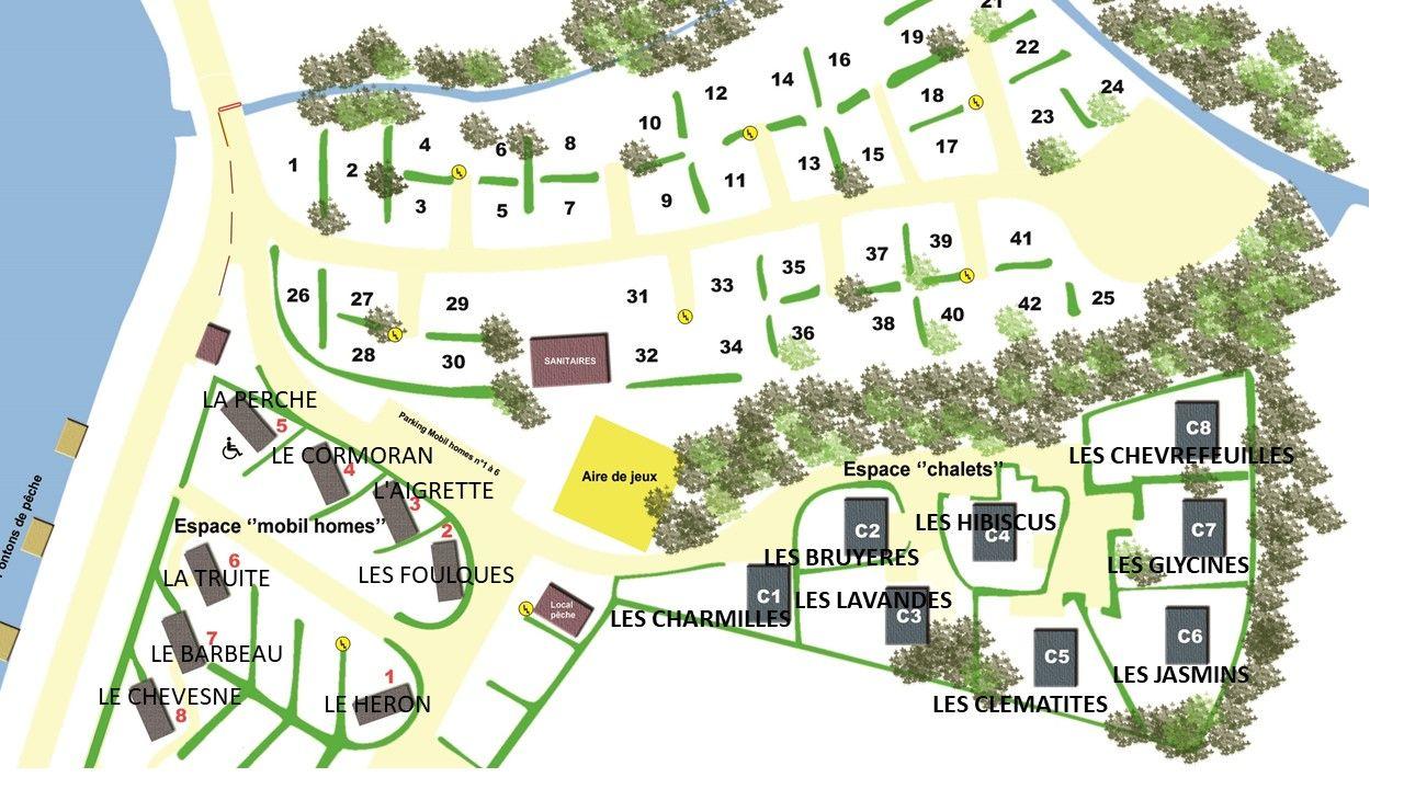 Plan de situation des hébergements