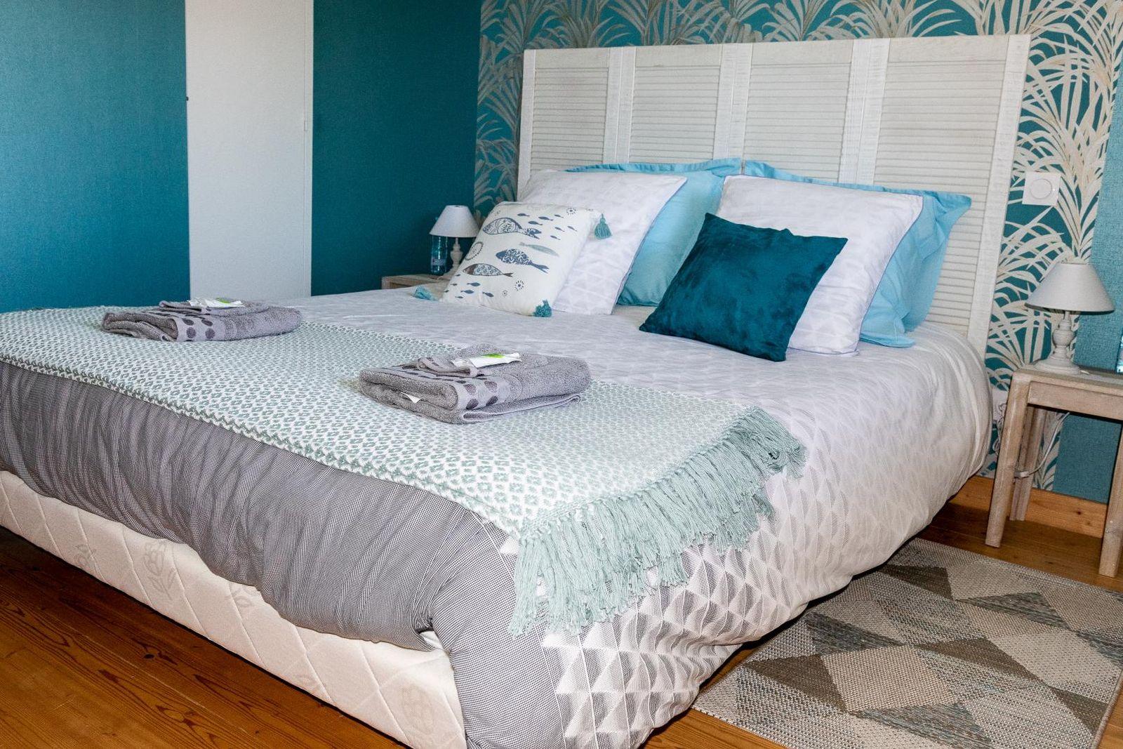 Chambre 4 équipée d'un lit double 160x200