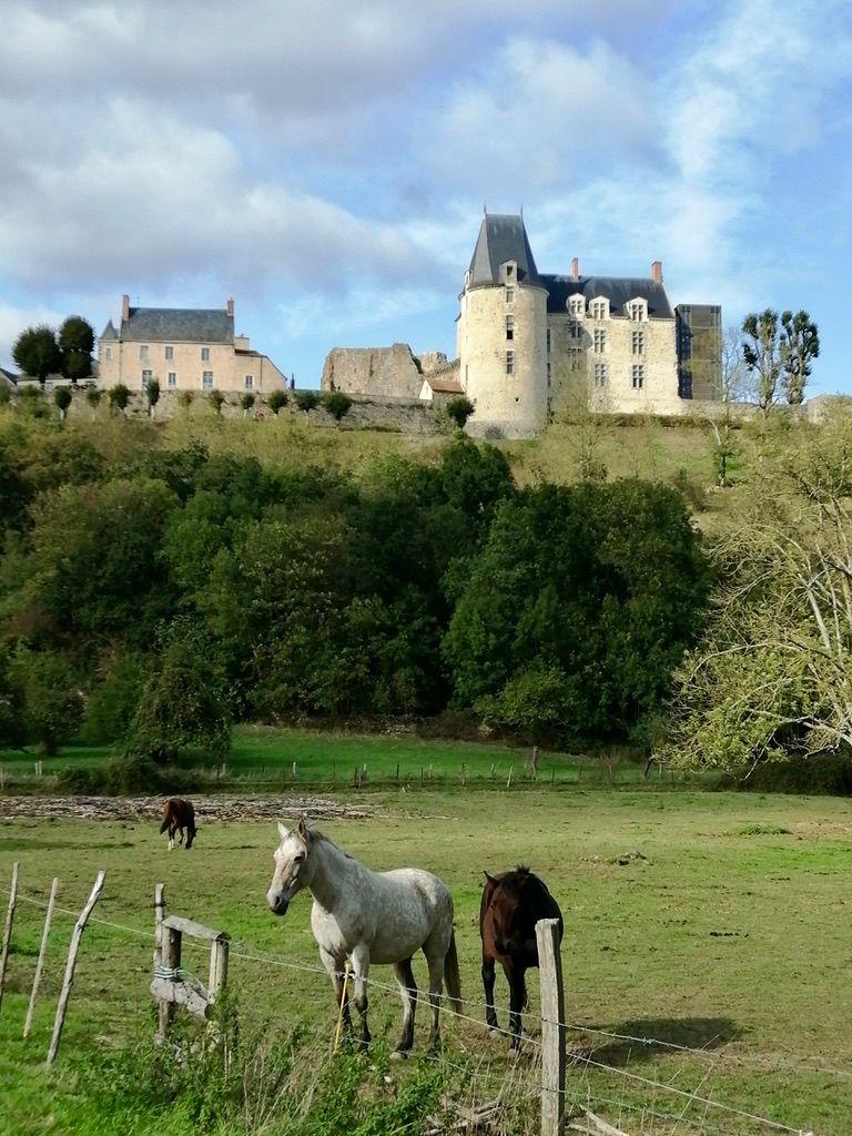 Château de Sainte-Suzanne vu de la promenade des moulins