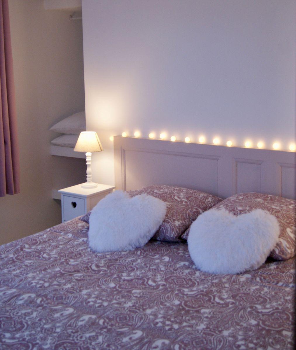 Chambre Rose - Lit en 160x200 ou 2 lits en 80x200 à votre convenance.