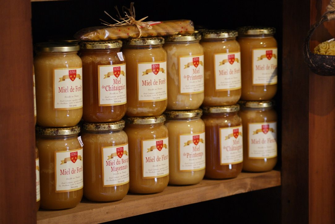 Miel artisan Mayenne, boutique de la Reine Esther