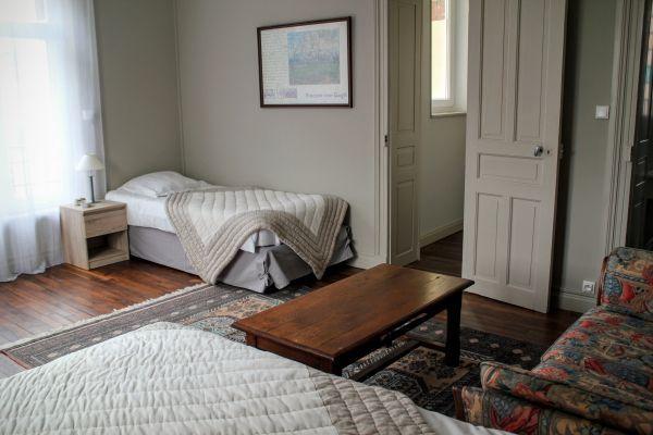 Chambre en configuration 2 lits séparés