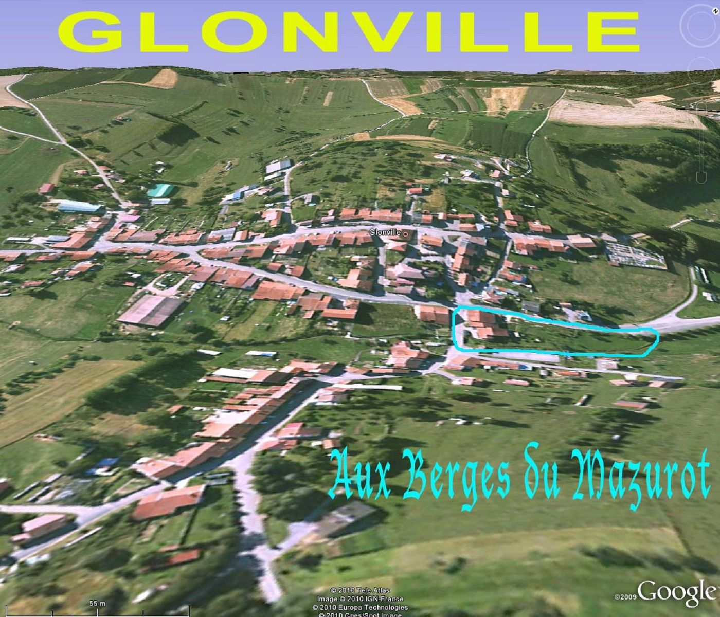 Vue aérienne de Glonville
