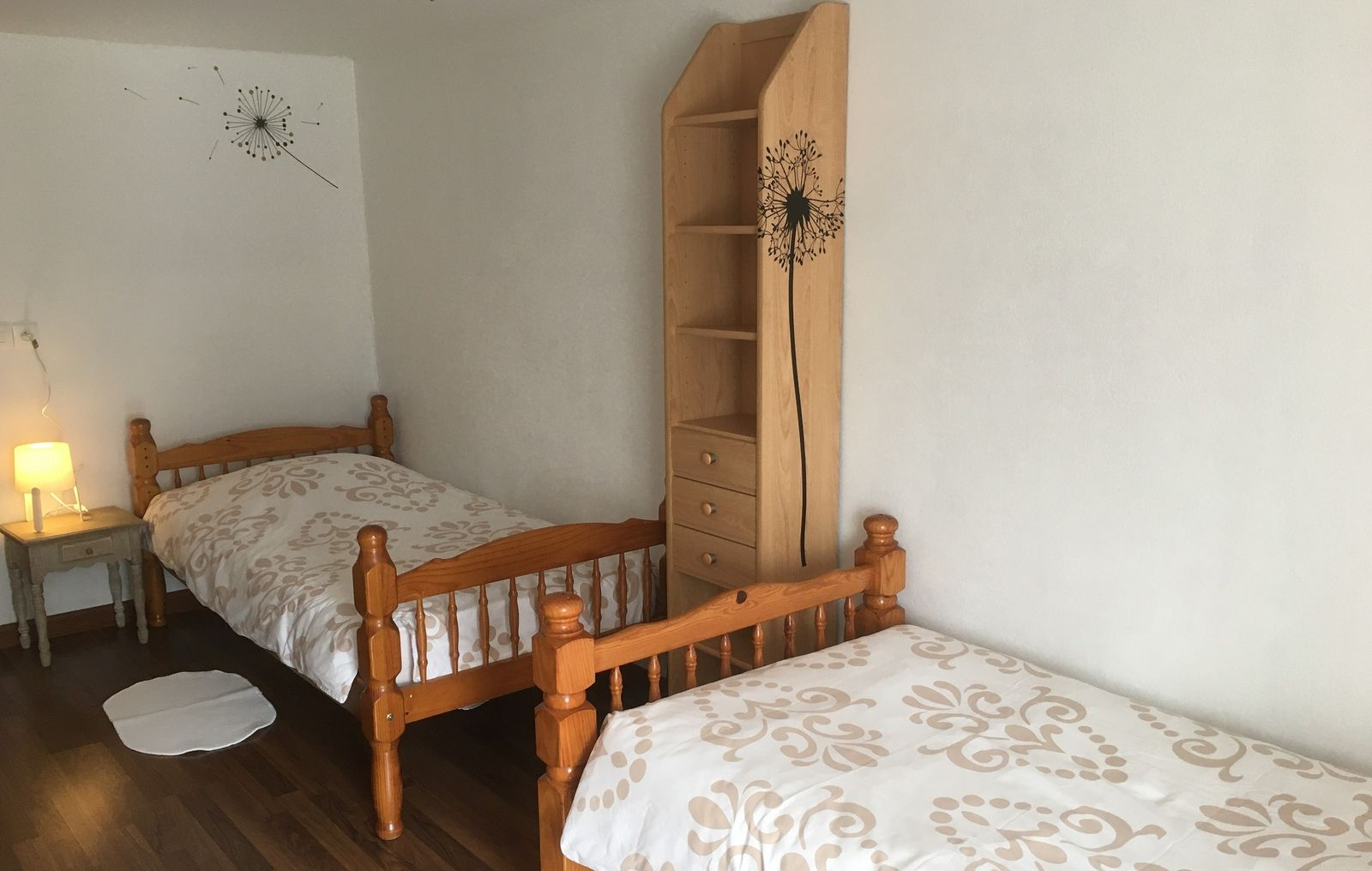 Chambre 2 lits d 1 pers  1 étage