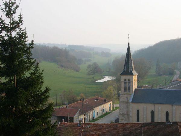 l'église vue du plateau