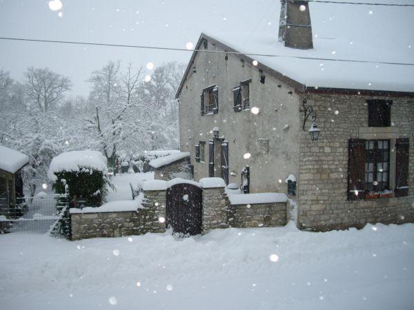 Ma Maison Lorraine sous la neige