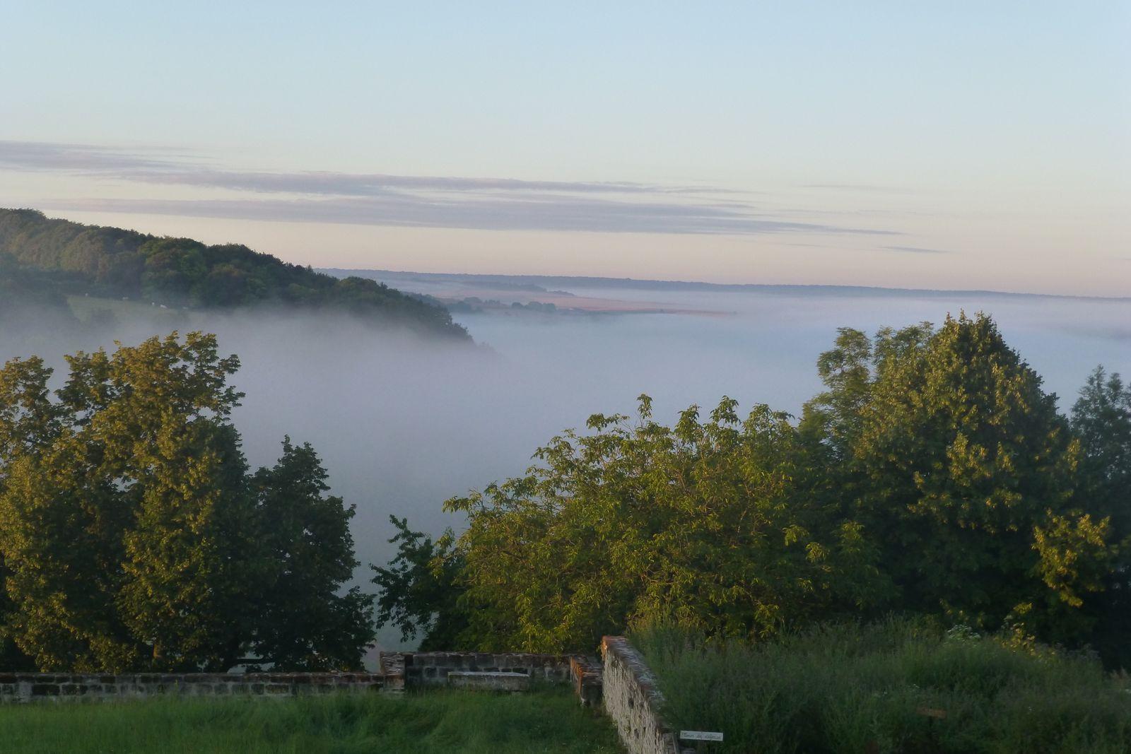 la brume monte de la vallée