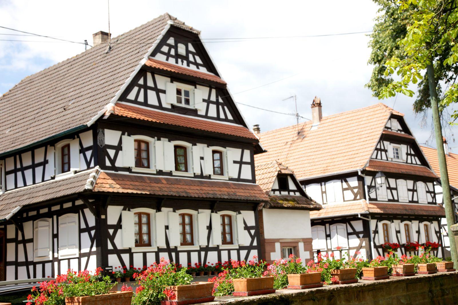Le village de Hunspach - Rue principale