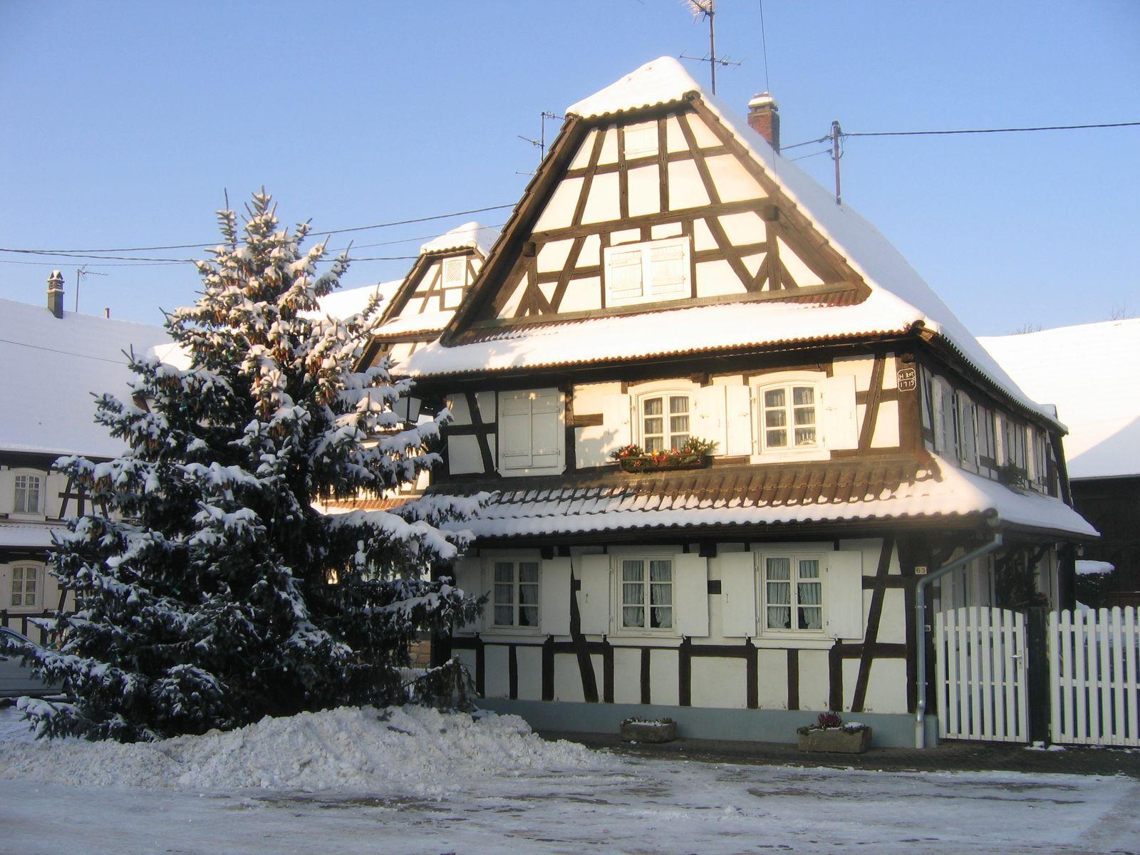 Place du village - Hunspach en Hiver