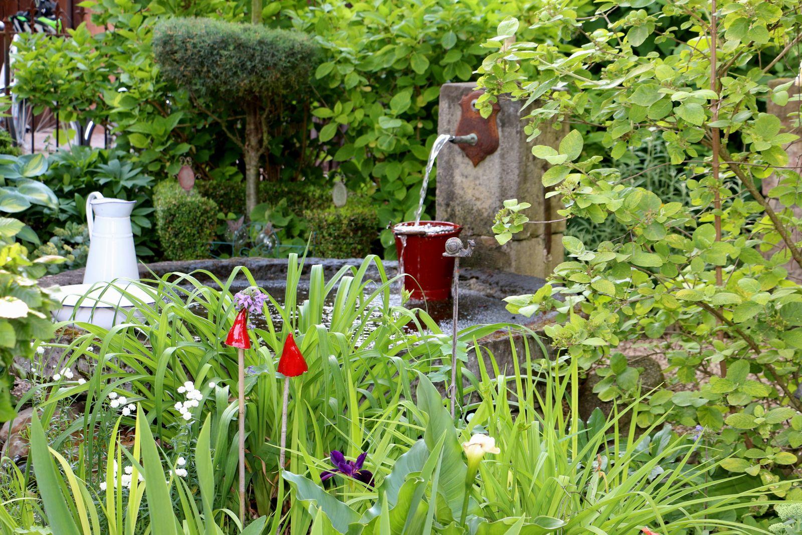 Petit jardin côté chambres
