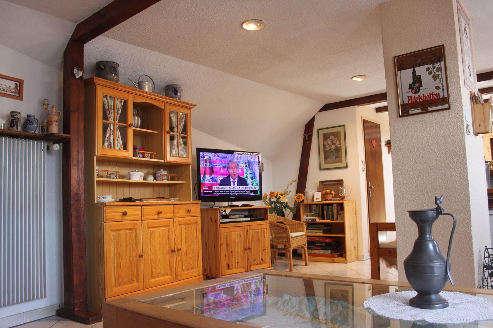 Le coin télévision grand écran -