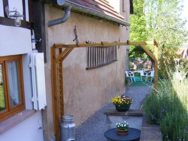La terrasse et l'accès au jardin privatif