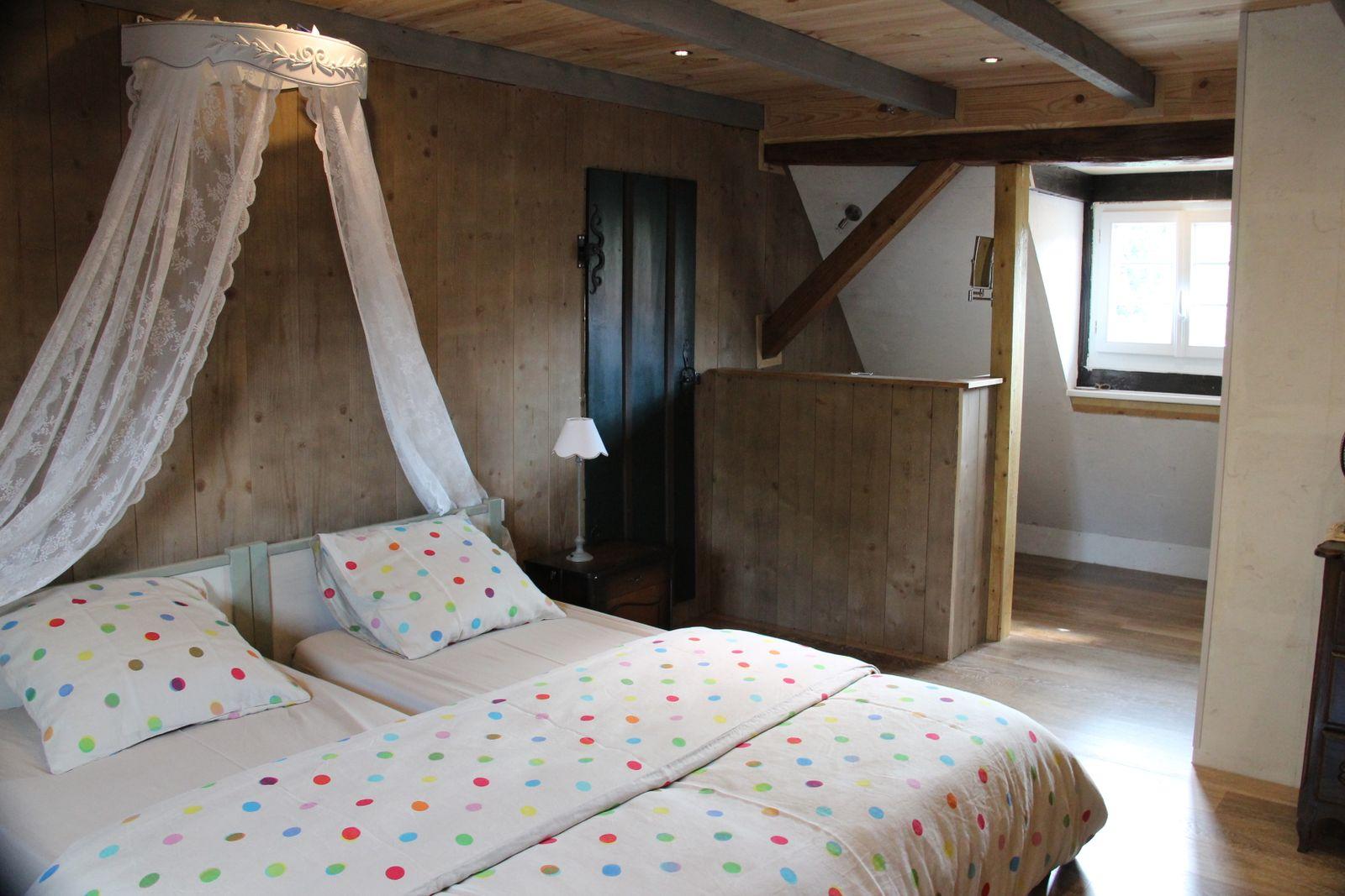 Possibilité d'une chambre attenante supplémentaire pour 2 à 3 personnes (groupe)