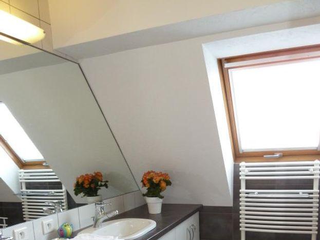 salle de bains avec douche et plan vasque