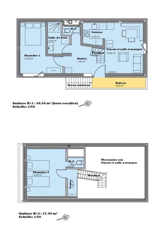 Plan du 2ème niveau