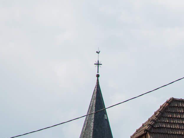 Rue de l'Eglise à Preuschdorf.