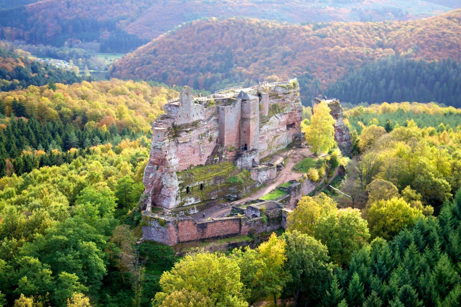 Château fort de Fleckenstein à Lembach, à environ 20 minutes du gîte.