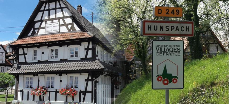 """Hunspach, élu """"Village préféré des Français"""" en 2020 mais également labellisé """"Un plus beaux villages de France"""" à environ 20 minutes du gîte."""