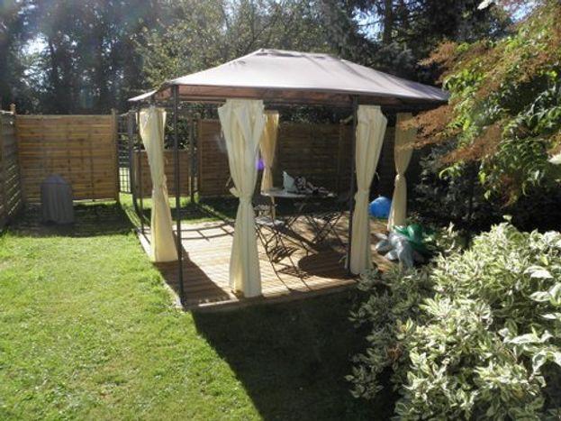 Terrasse privée pour nos invités avec barbecue