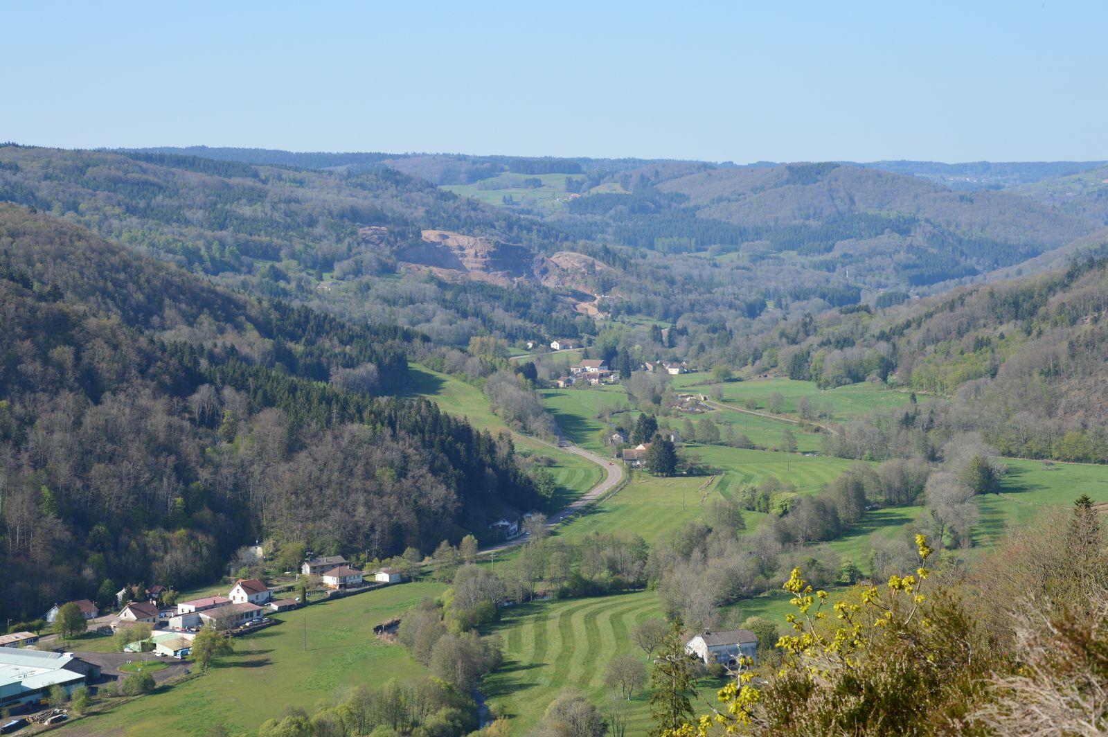 Route en direction des Vosges.