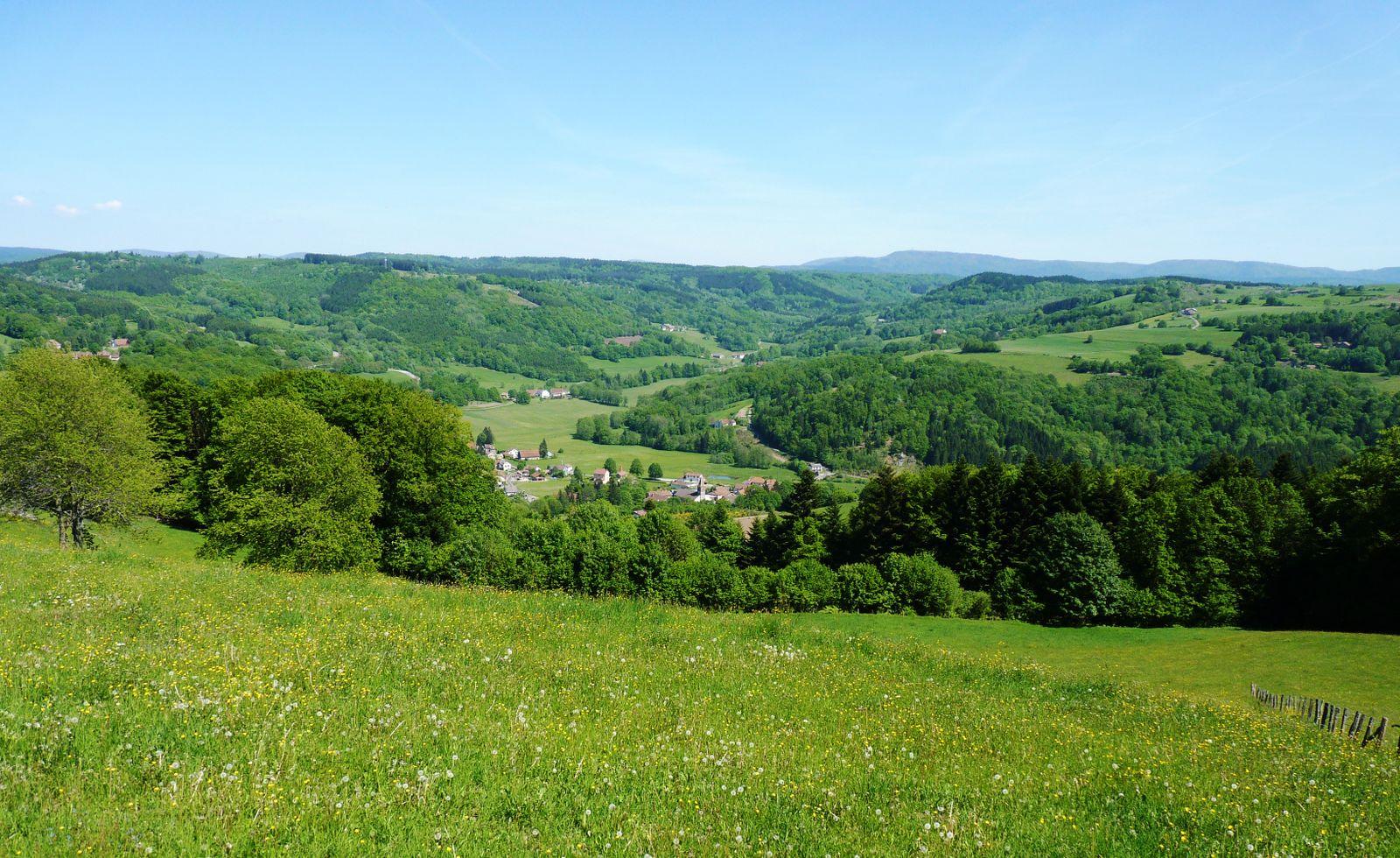 Vue sur le village de Corravillers depuis le gite.