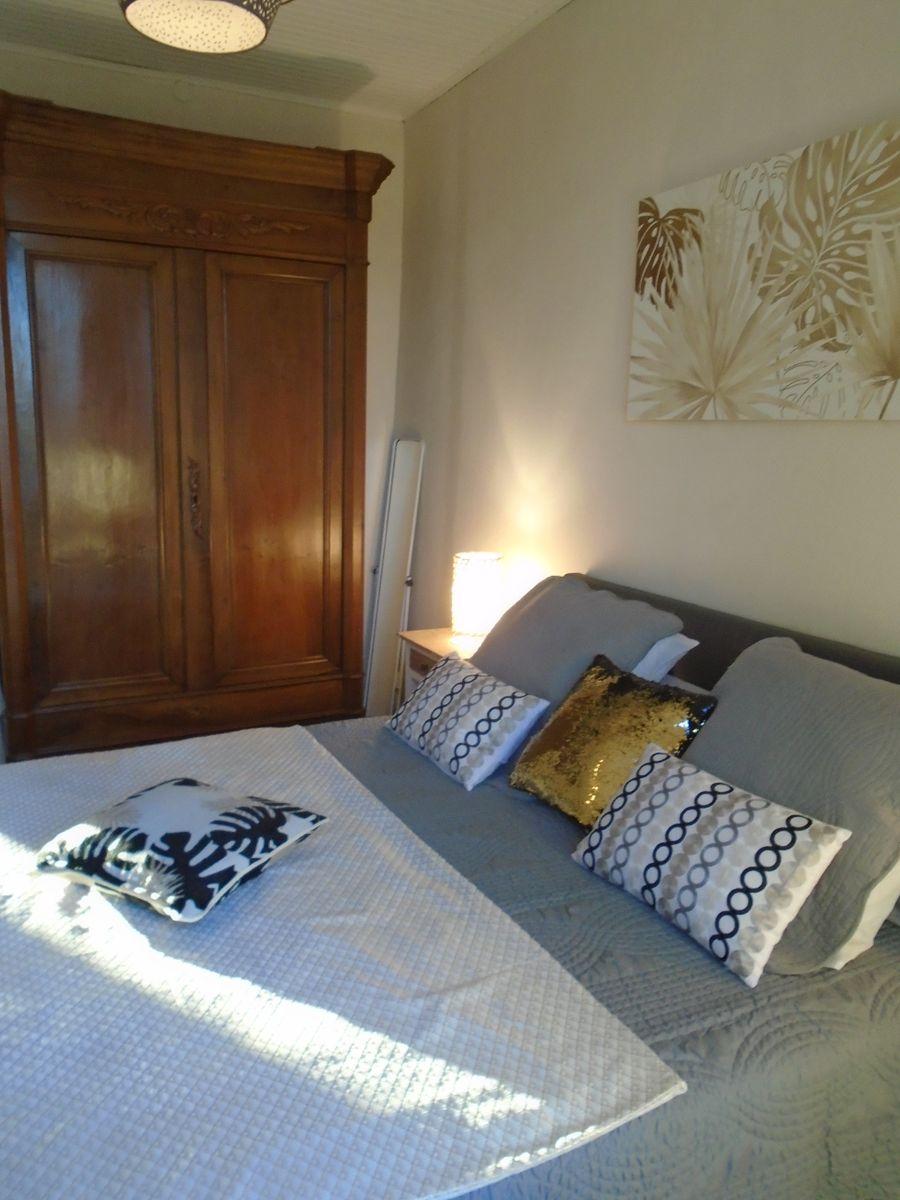 chambre Or/Gris lit en 160cm + armoire lingère