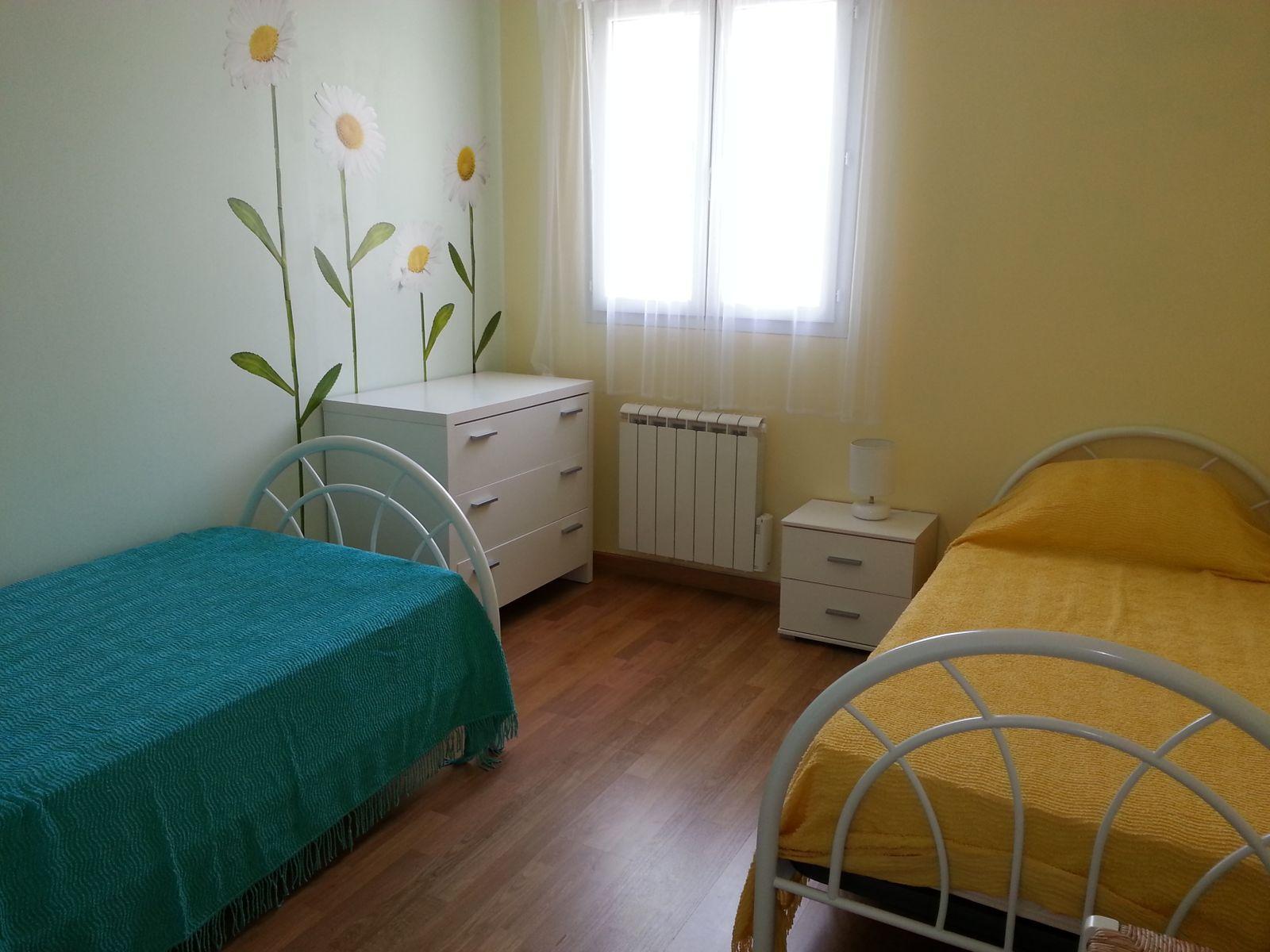 Chambre jaune et vert