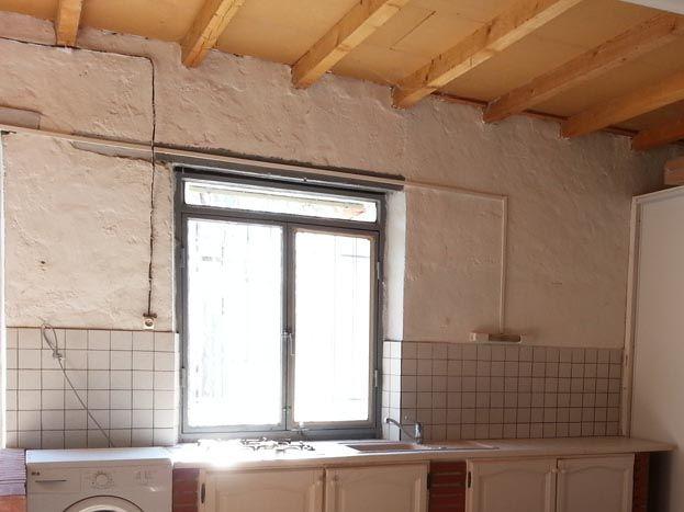 cuisine d été dans le garage+machine laver linge