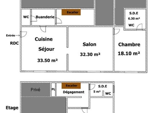 Chambre (salle d'eau /toilettes) privée peut être louée en plus sur demande au propriétaire